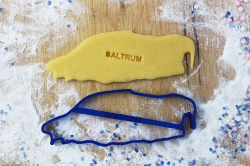 Ausstechform Insel Baltrum personalisiert mit Wunschname