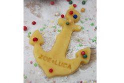 Keks Ausstechform Anker mit Wunschtext personalisiert