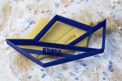 Keks Ausstechform Faltschiff mit Wunschtext personalisiert
