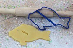 Keks Ausstechform Fisch mit Wunschtext personalisiert
