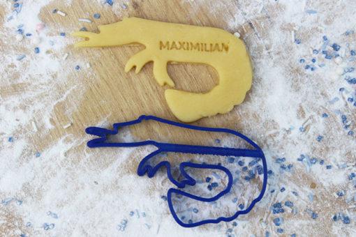 Keks Ausstechform Krabbe mit Wunschtext personalisiert