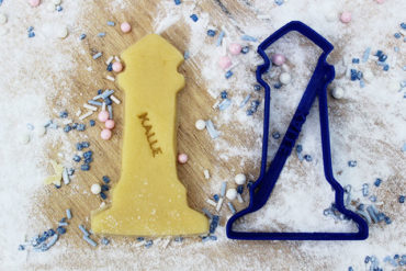 Keks Ausstechform Leuchtturm mit Wunschtext personalisiert