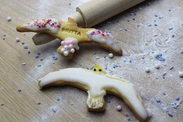 Keks Ausstechform Möwe mit Wunschtext personalisiert