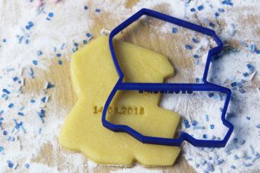 Keks Ausstechform Strandkorb mit Wunschtext personalisiert