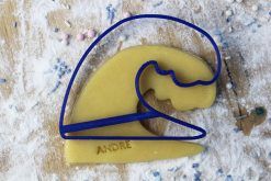 Keks Ausstechform Welle mit Wunschtext personalisiert