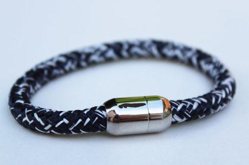 Segeltau Armband Norderney Kogge mit 8mm Magnetverschluss inkl. Norderney-Gravur