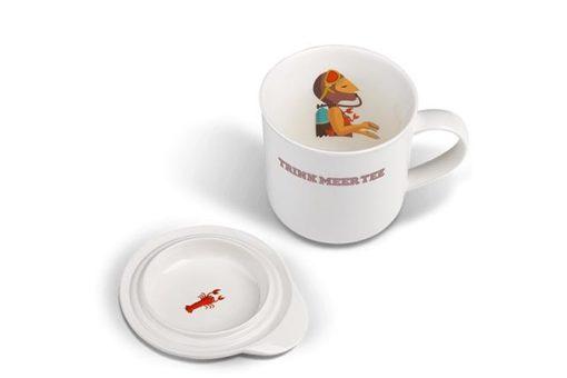 Trink Meer Tee Becher Auf Tauchstation