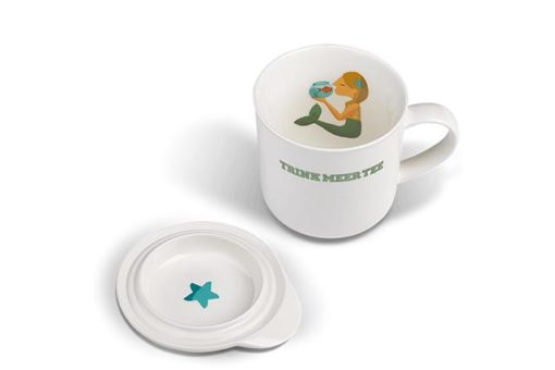 Trink Meer Tee Becher Wogen glätten