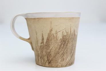 Keramikbecher Lee mit Fisch Motiv